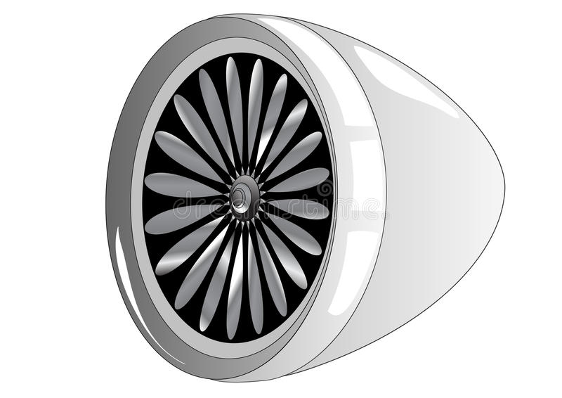 Jet Engine vector illustratie