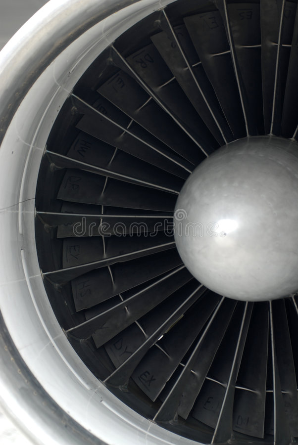 Jet Engine Close Up royalty free stock photo