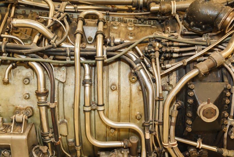 Jet engine close-up stock image