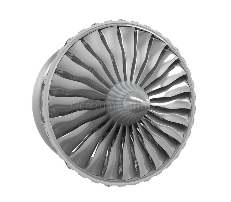 Jet Engine Isolated immagine stock