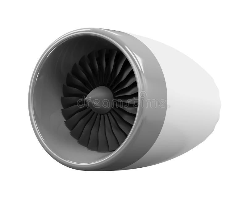 Jet Engine Isolated fotografia de stock