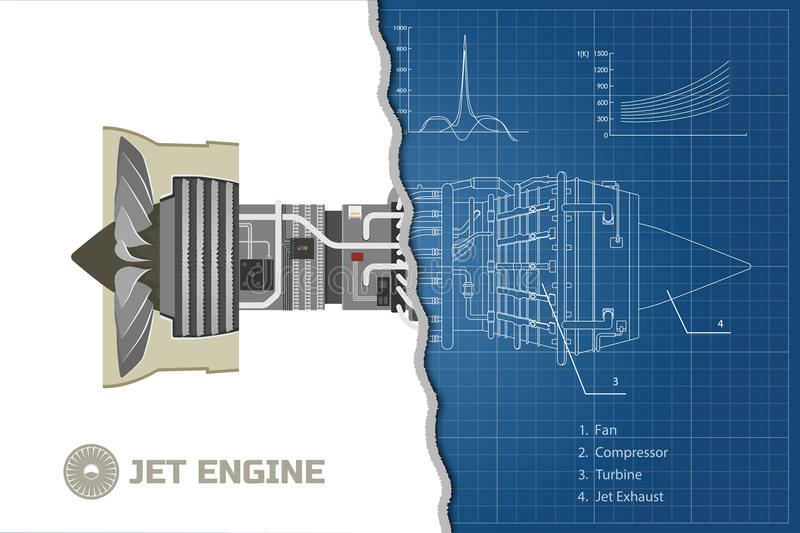 Jet engine in a outline style industrial vector blueprint part of download jet engine in a outline style industrial vector blueprint part of the aircraft malvernweather Images