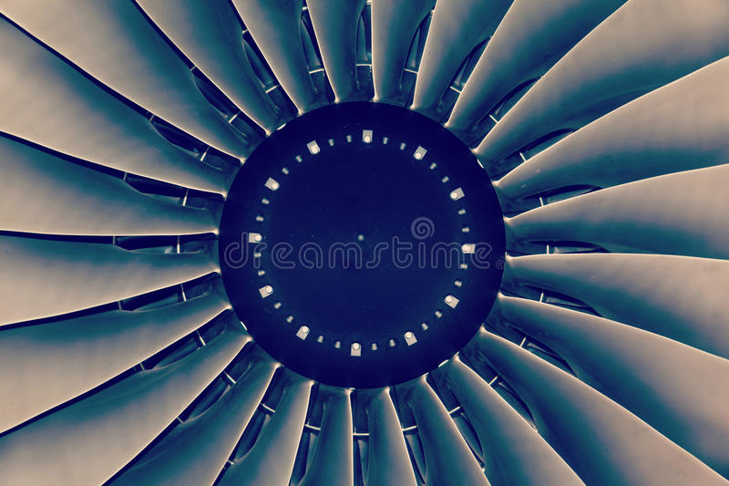 Jet engine passenger plane stock photo