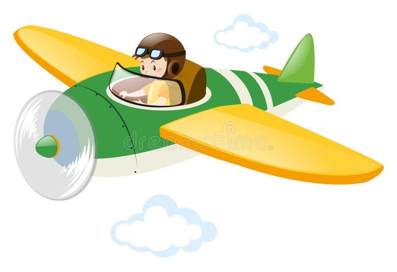 Jet experimental del vuelo en el cielo libre illustration