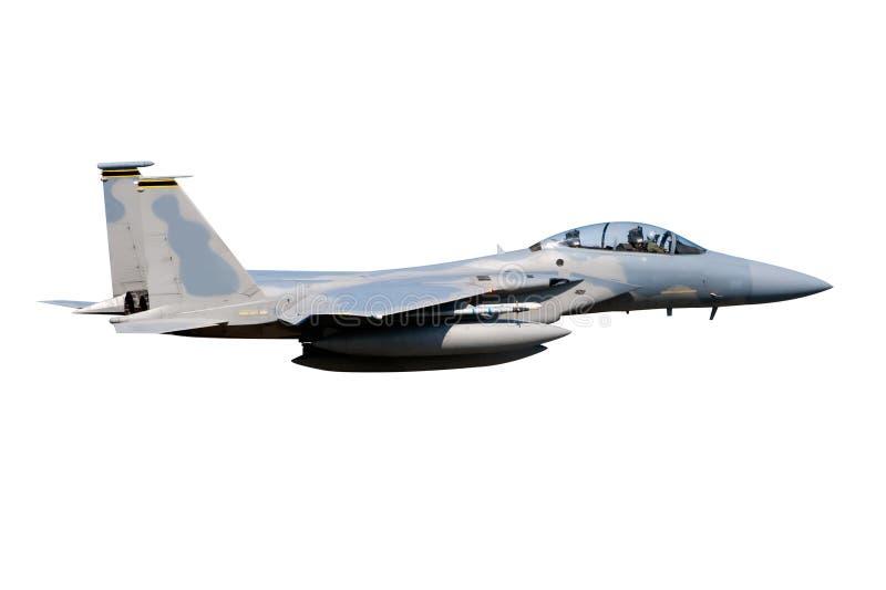 Jet F-15 aislado foto de archivo