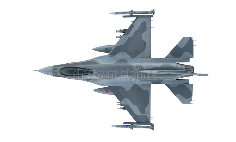 Jet F-16 isolate on white background. american military fighter plane. USA army royalty free stock photos