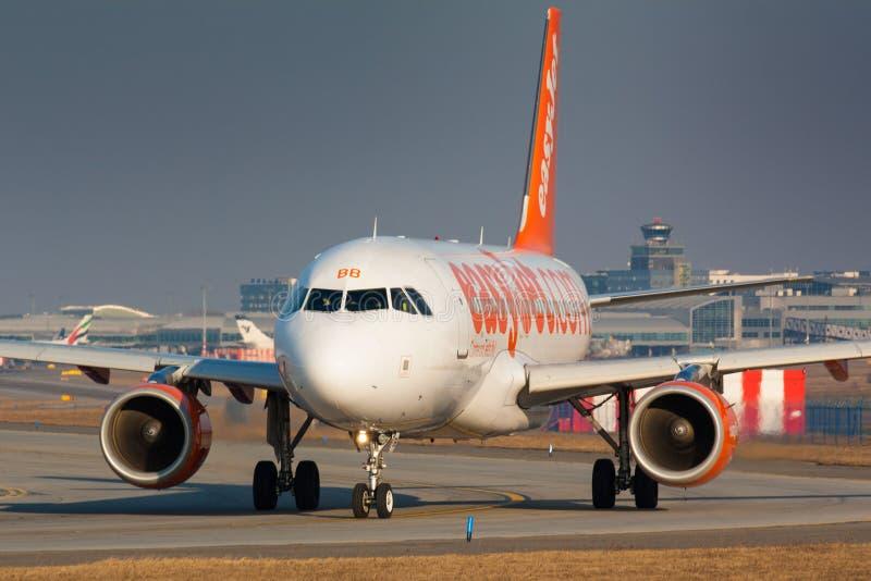 Jet A319 facile photographie stock libre de droits