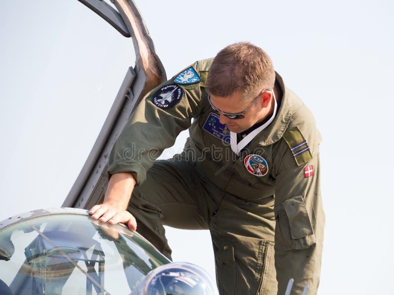 Jet fighter maintenance stock photos