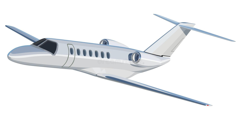 Jet-Flugzeug stock abbildung