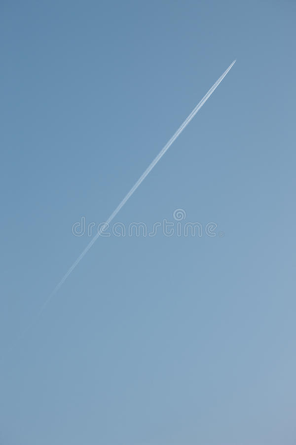 Download Jet Flying High Up In The Air Stock Image - Image: 12398601