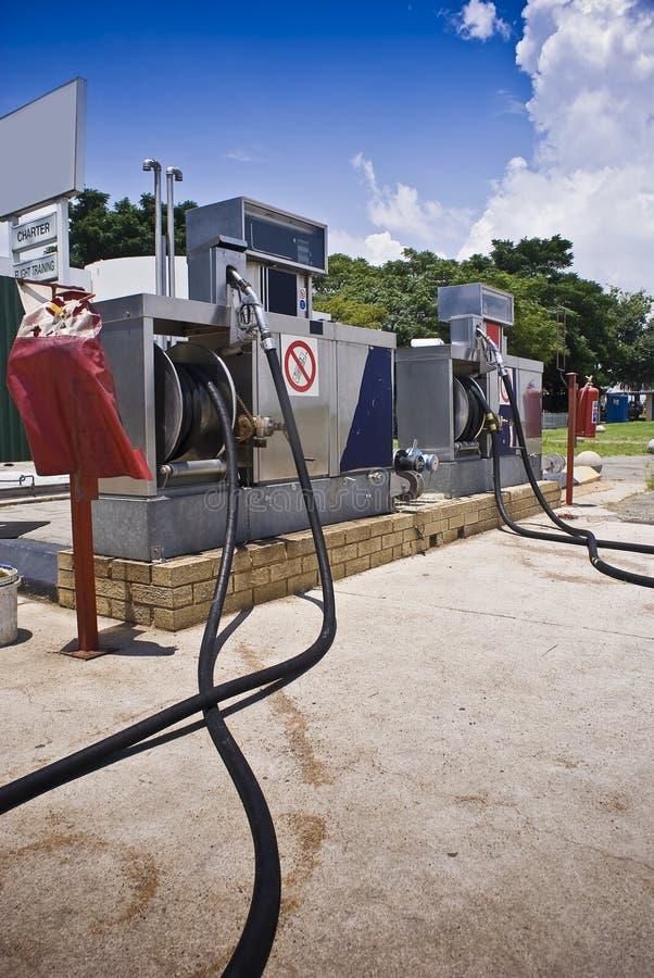 Jet Fuel - Aviation Filling Station Stock Photo