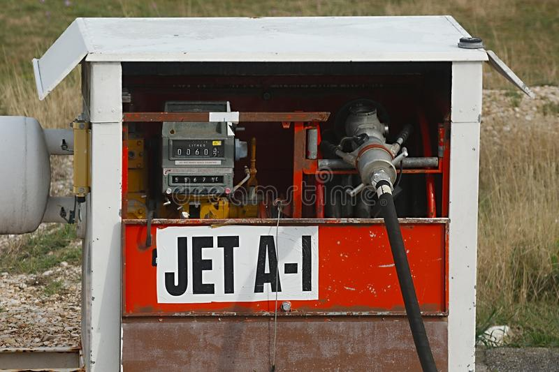 Jet Fuel Pump royaltyfria bilder