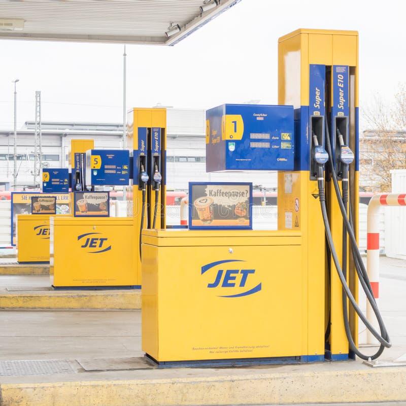 Jet gas pumps royalty free stock photos
