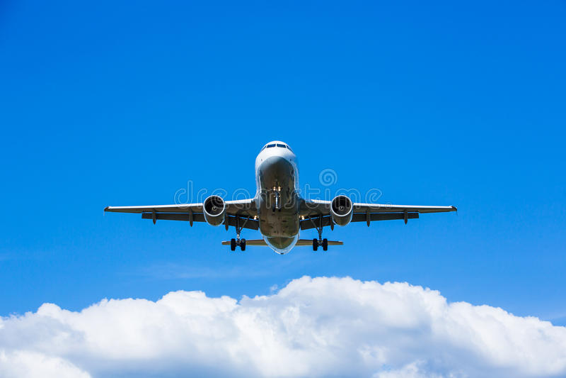 Jet Landing stock foto's