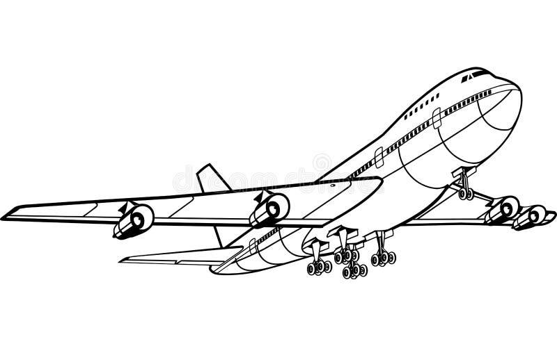 Jet Liner Illustration ilustración del vector