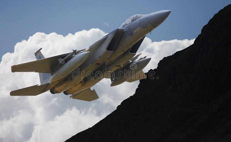 Jet militar F15 foto de archivo