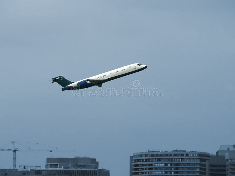 Jet Plane In Flight - Take Off From Airport Stock Photos