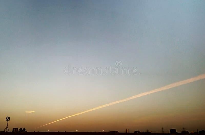 Jet Planes Trail stock image