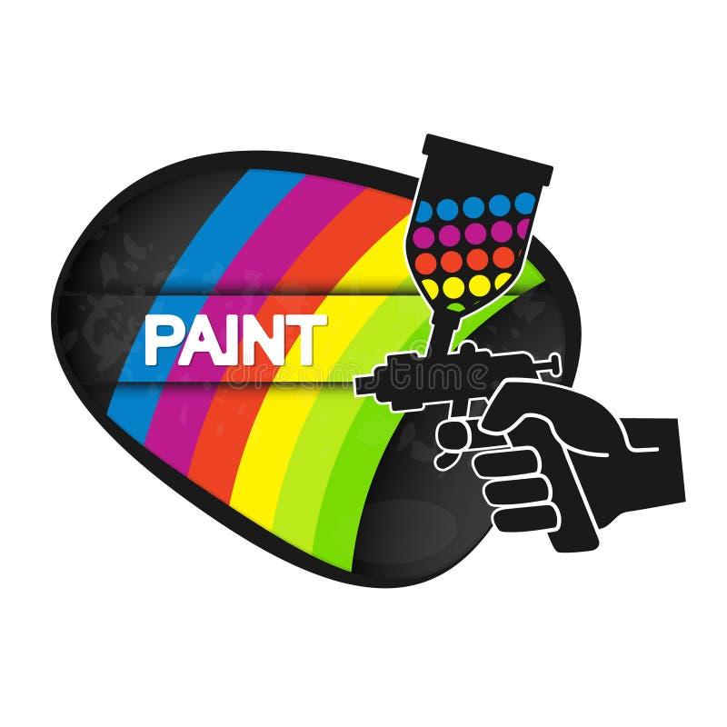 Jet pour la peinture illustration stock