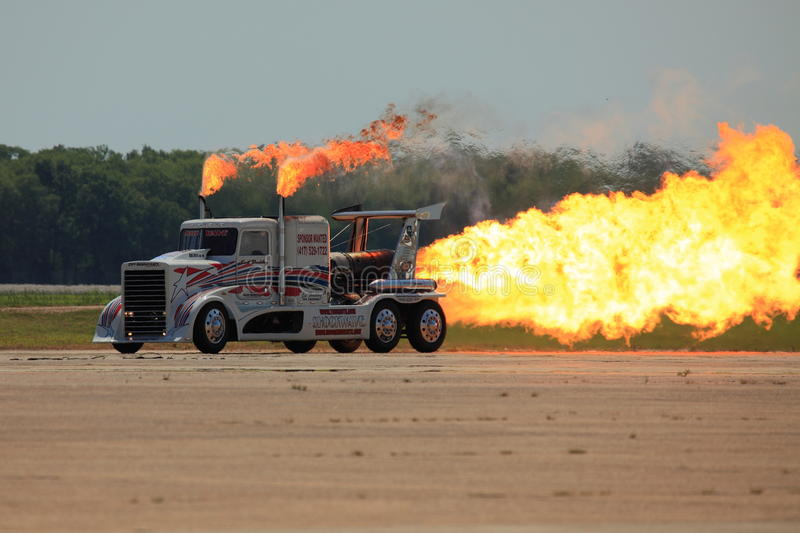 Download Jet Powered Truck editorial stock image. Image of massive - 19433884