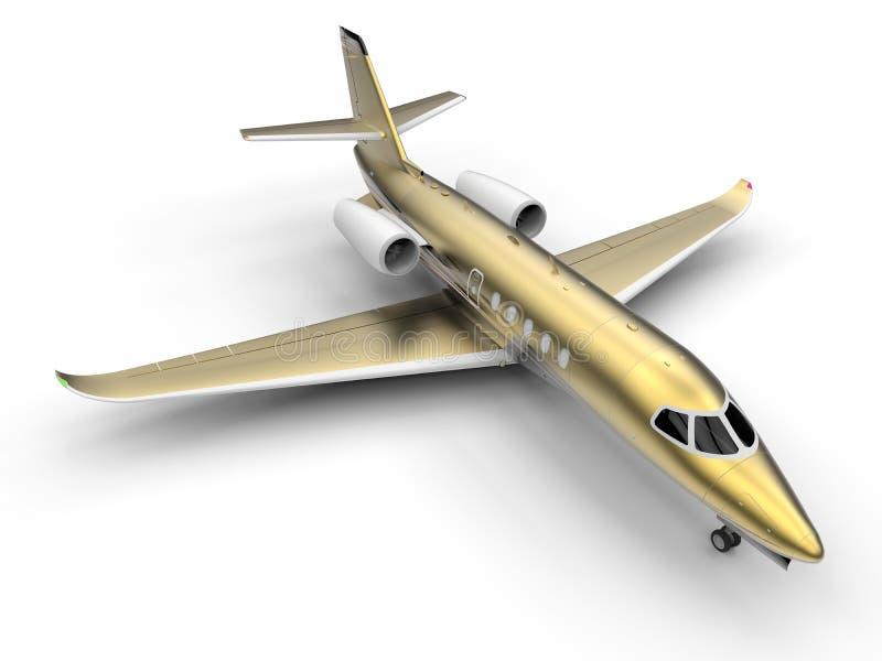 Jet privé de luxe d'or illustration libre de droits