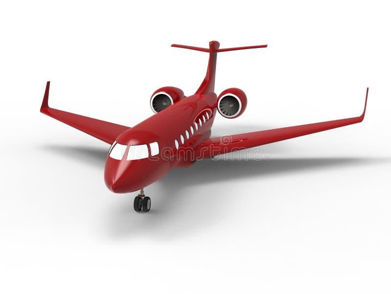 Jet privé de luxe rouge illustration de vecteur