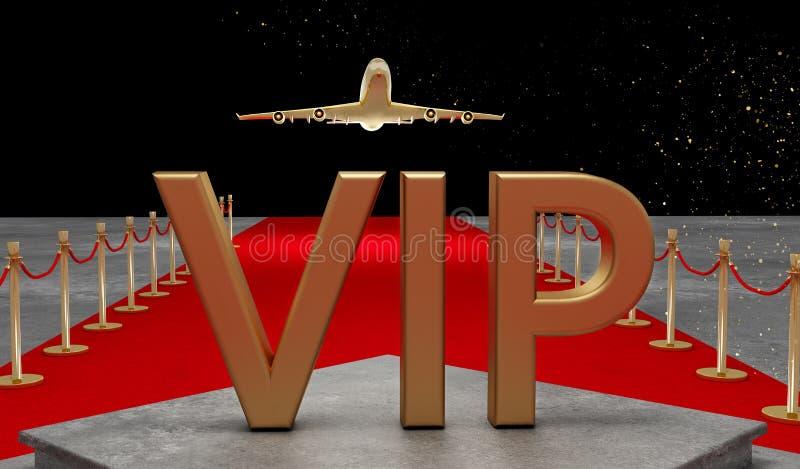 Jet privé de tapis rouge avec un luxe VIP illustration libre de droits