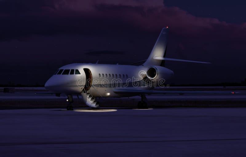 Jet privé se reposant au macadam photos stock