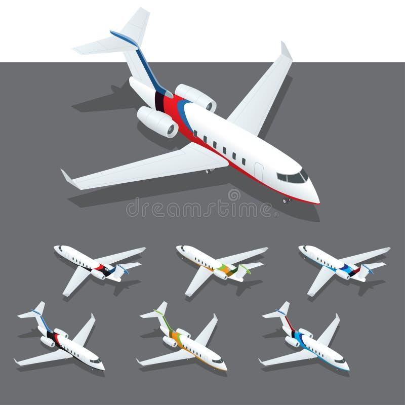 Jet privado isométrico stock de ilustración