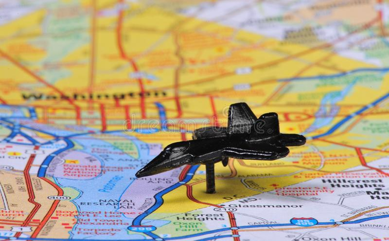 Download Jet Push pin stock photo. Image of black, airplane, directions - 8321620