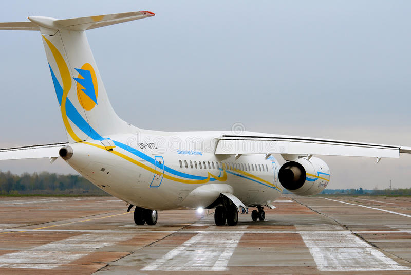 Jet regionale di Antonov An-148 fotografia stock libera da diritti