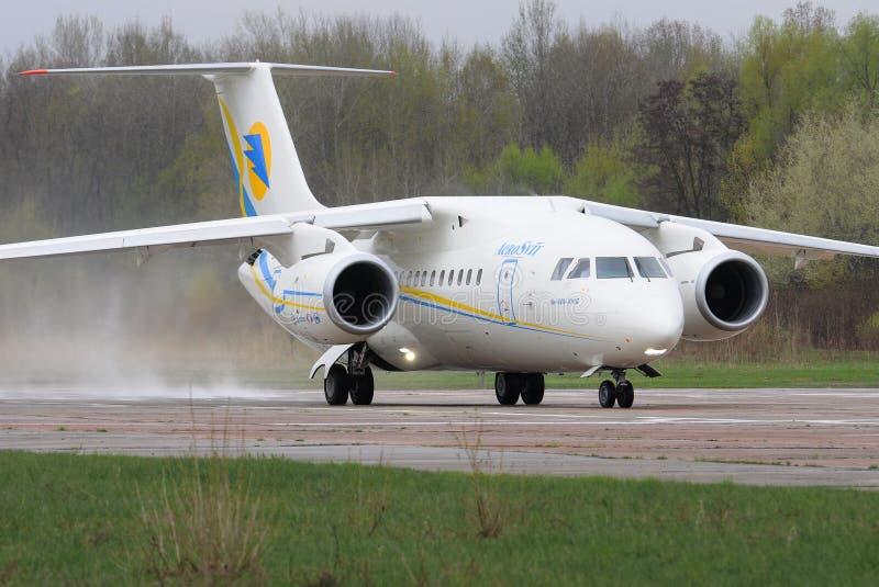 Jet regionale di Antonov An-148 fotografie stock