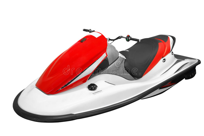 Jet-ski. Watercraft jet-ski isolated on white