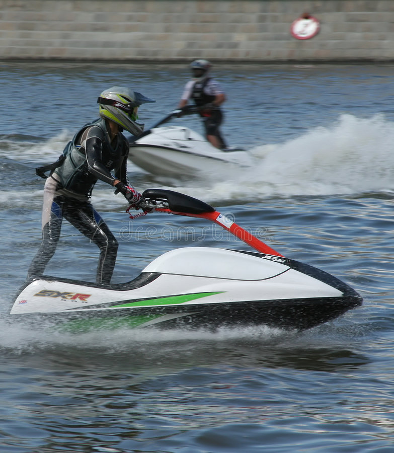 Jet ski competition stock photography