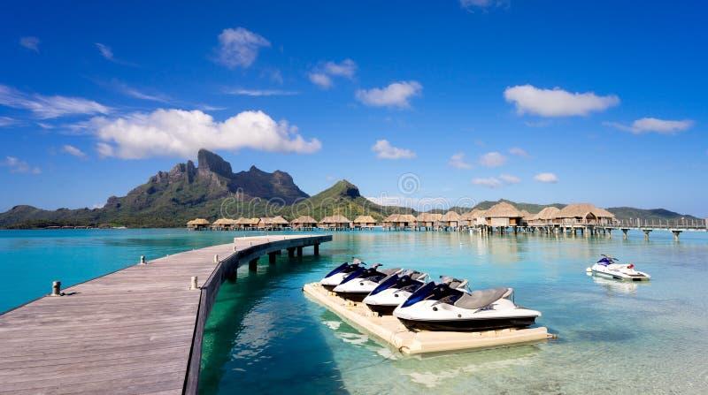 Jet Ski em Bora Bora imagem de stock