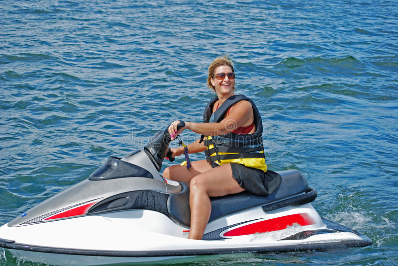Jet ski fun2 royalty free stock photos