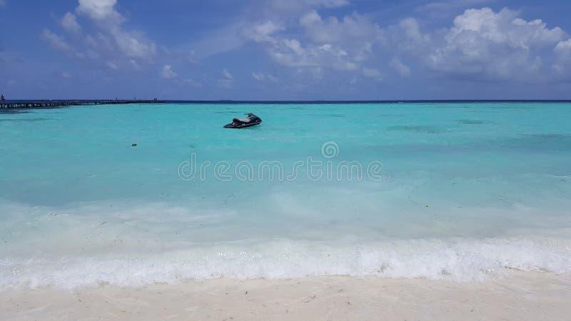 Jet-Ski im Meer stockfoto