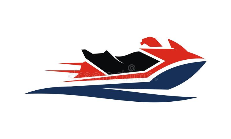 Jet Ski Motor Boat illustration stock