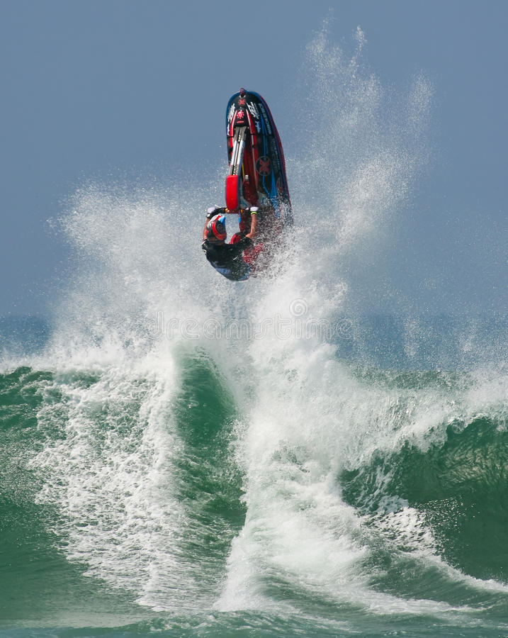 Jet Ski In The Waves Editorial Image