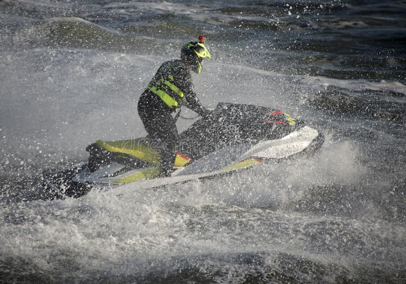 Jet Skier Bournemouth Seafront royalty-vrije stock afbeelding
