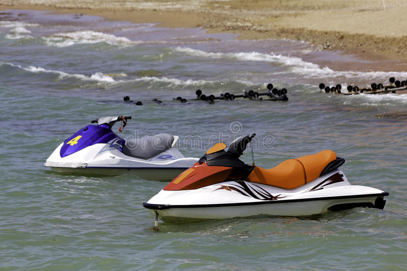Jet-skis royalty free stock photography
