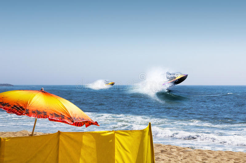 Jet skis royalty free stock photography