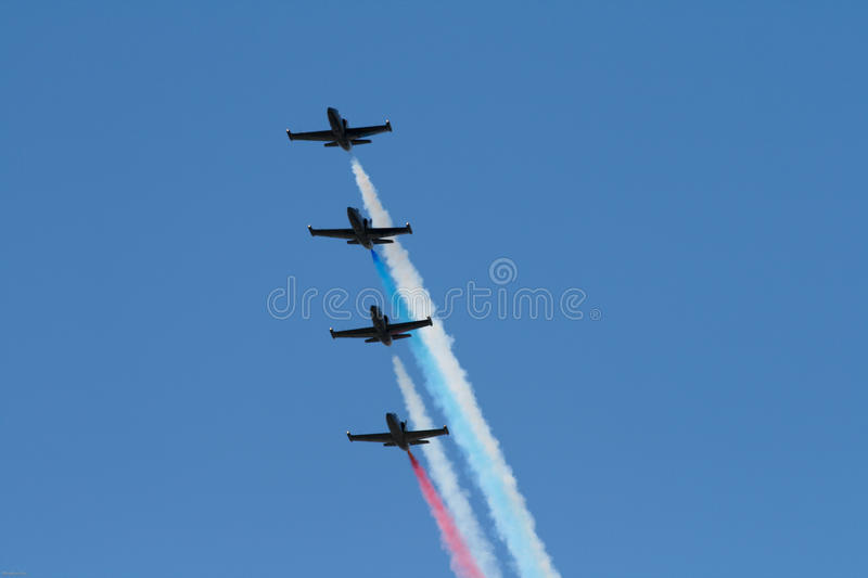 Download Jet Team in Formation stock photo. Image of danger, fight - 14472792