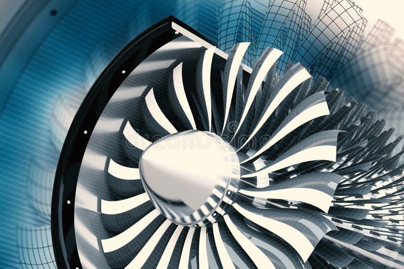Jet Turbine Technology stock abbildung