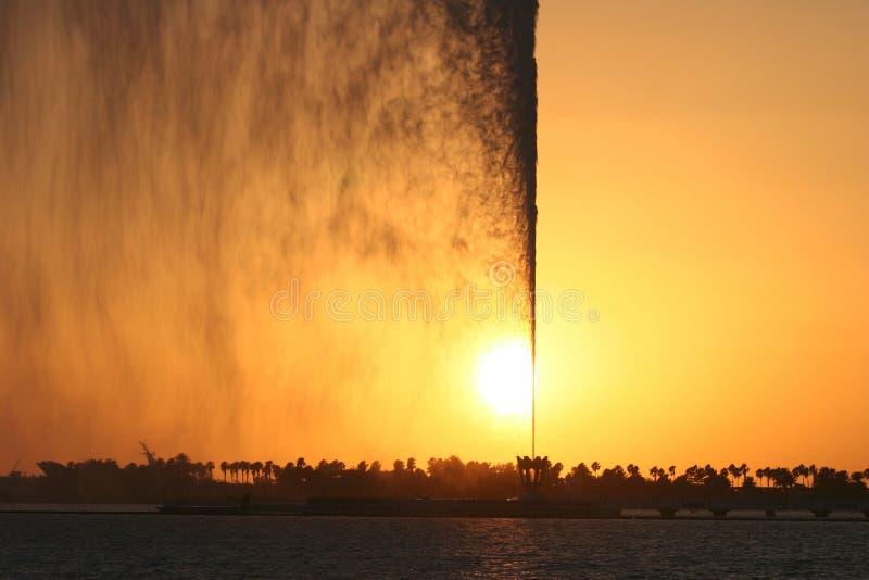 Jet variopinto di acqua fotografia stock