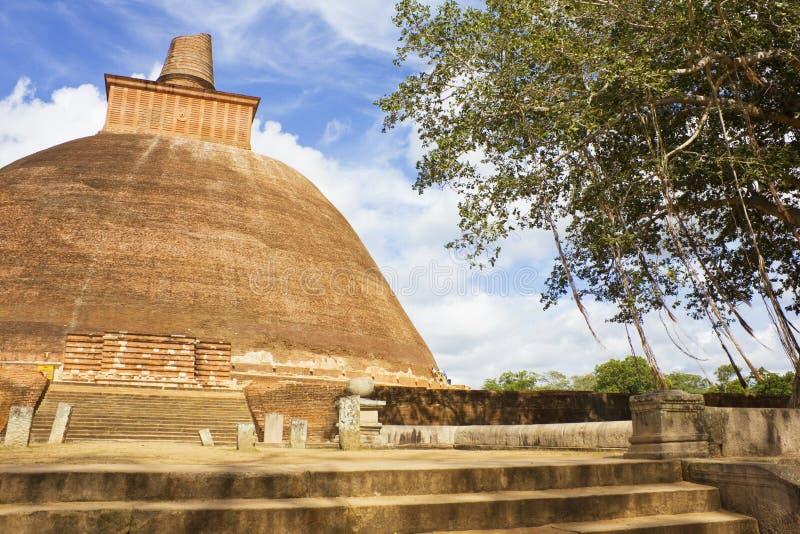 Jetavana Dagoba, Anuradhapura, Sri Lanka fotos de archivo
