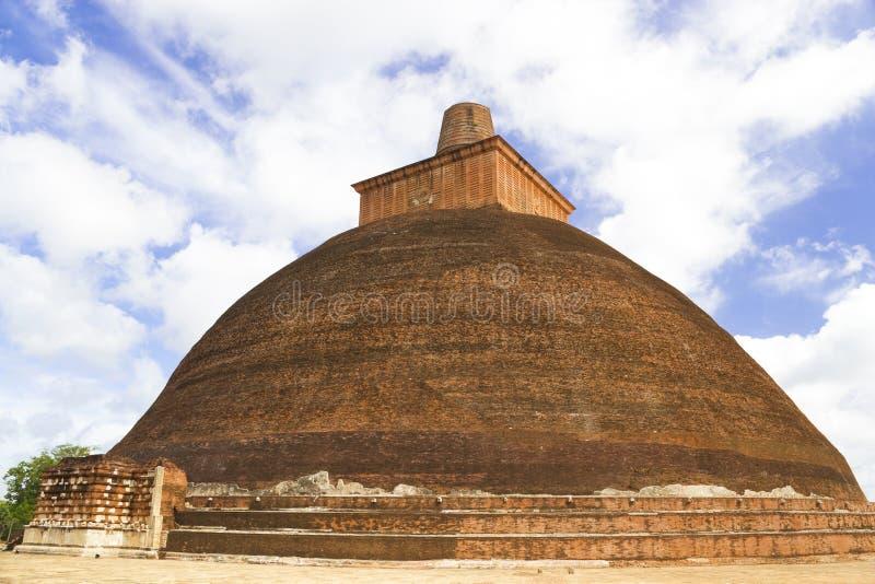 Jetavana Dagoba, Anuradhapura, Sri Lanka imagem de stock