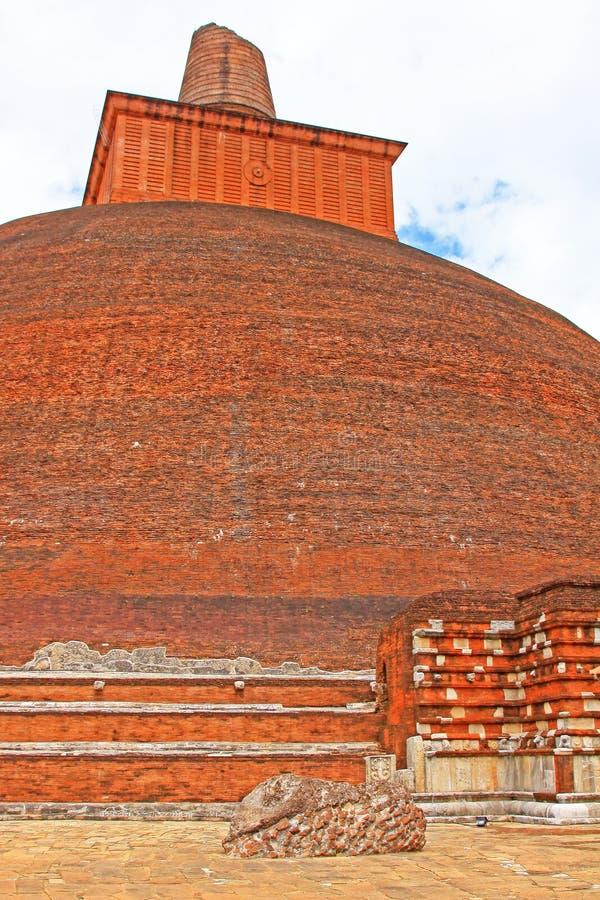 Jetavanaramaya Stupa, patrimonio mundial de la UNESCO de Sri Lanka imagen de archivo libre de regalías