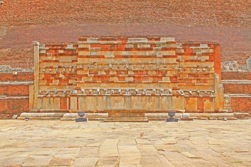 Jetavanaramaya Stupa, patrimonio mundial de la UNESCO de Sri Lanka fotografía de archivo