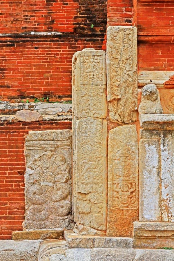 Jetavanaramaya Stupa, patrimonio mundial de la UNESCO de Sri Lanka imágenes de archivo libres de regalías